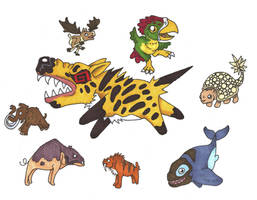 Chibi Beasties by Allison-beriyani