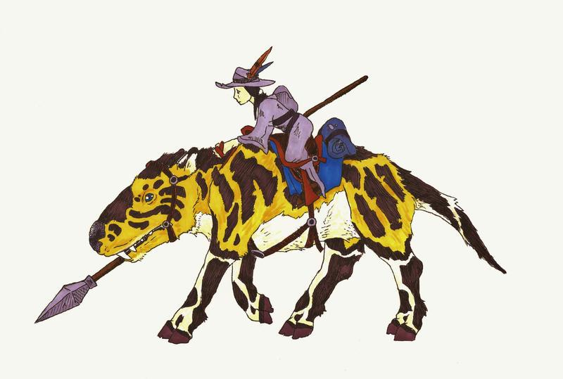 Wild Rider on a Kodo by Allison-beriyani