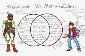 Mandolorian Vs. Man with a Delorian by Allison-beriyani