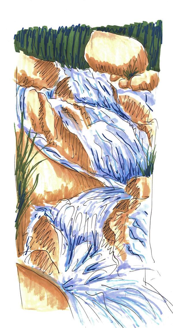 Alluvial Falls by Allison-beriyani