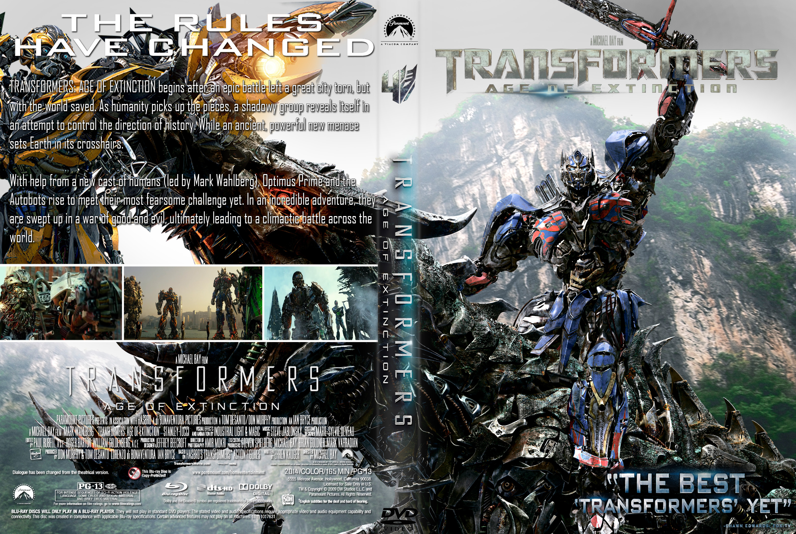 Transformers Age Of Extinction DVD Cover by superjabba425 ...