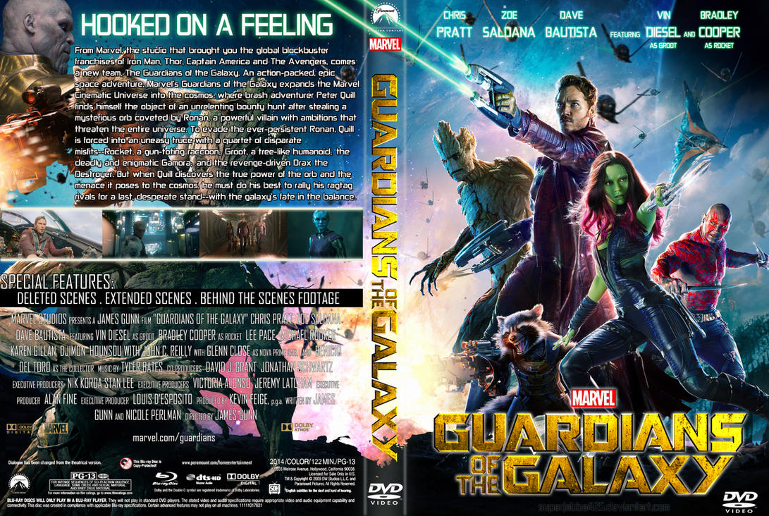 Guardians of the galaxy dvd cover by superjabba425 on deviantart