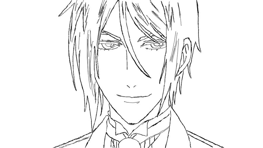 how to draw e black butler Gothic Anime Coloring Pages  Black Butler Sebastian Coloring Pages