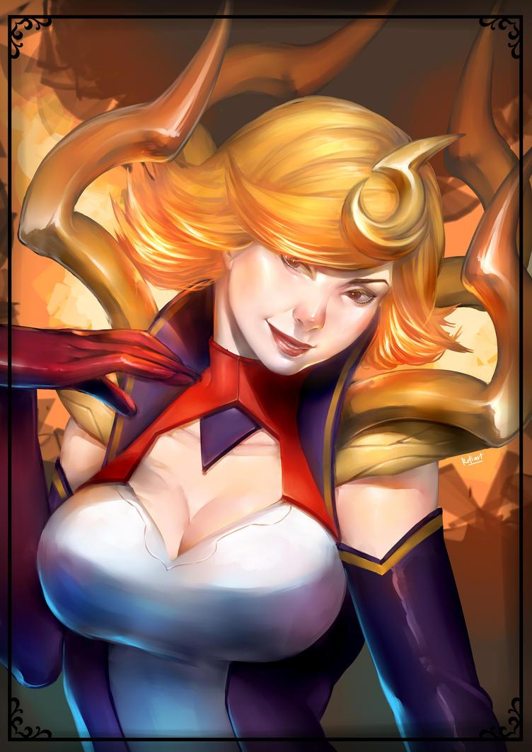 League of Legends: Elementalist Lux_Fire by RotiartTheGreat69