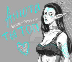 Art-postcard for streamer Anna