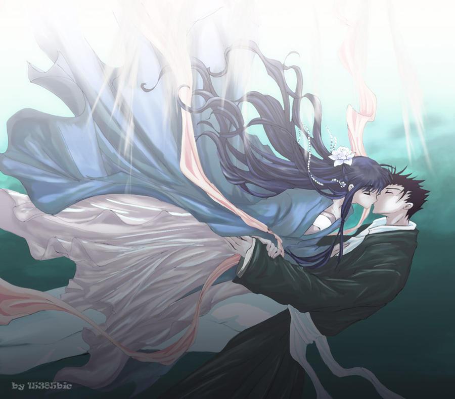 underwater kiss by chocobikies on deviantart
