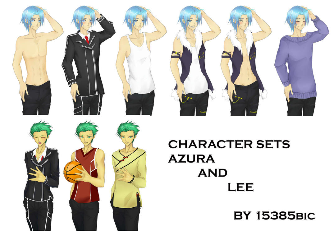 Character Design Visual Novel : Character sets azura and lee by chocobikies on deviantart