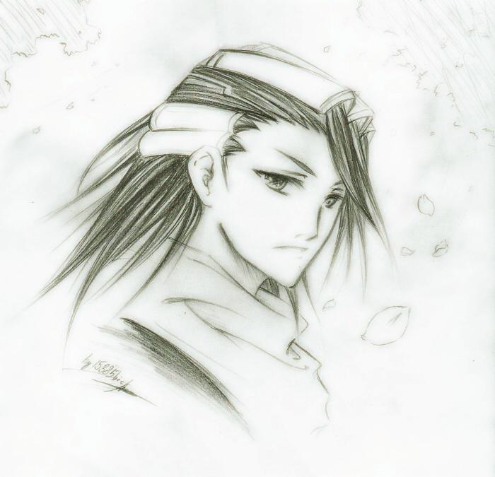 byakuya sketch by chocobikies