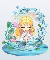 Zelda Breath of the wild chibi prayer