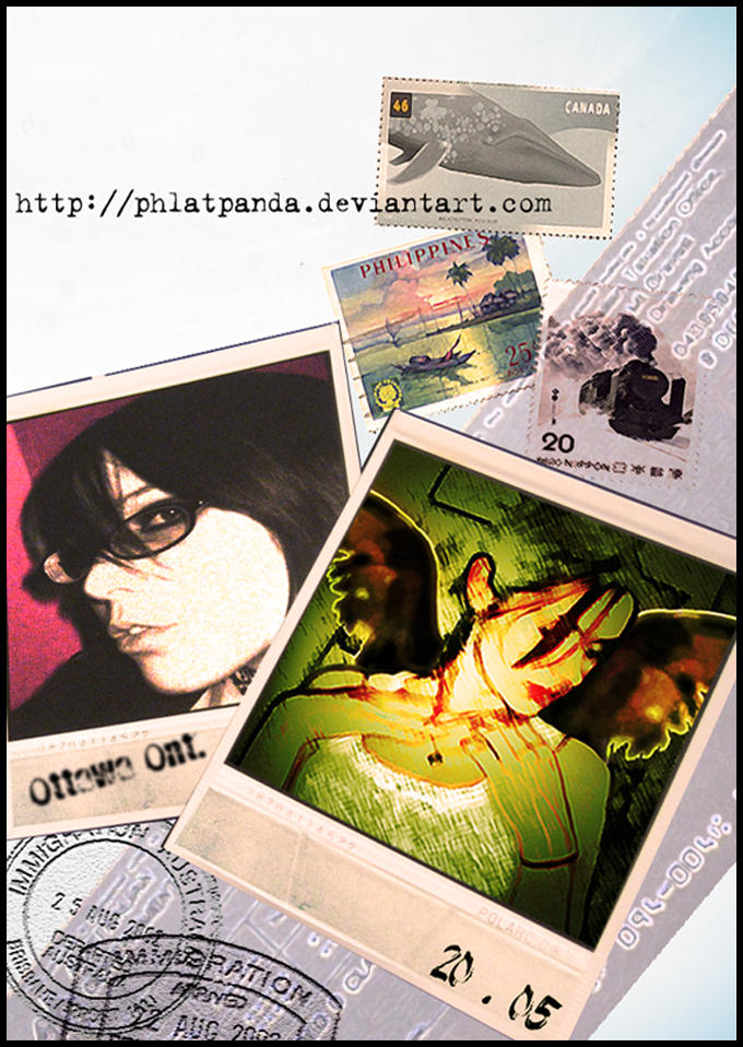 Polaroid Postcards by phlatpanda