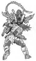 Predator vs Alien by DementedInk