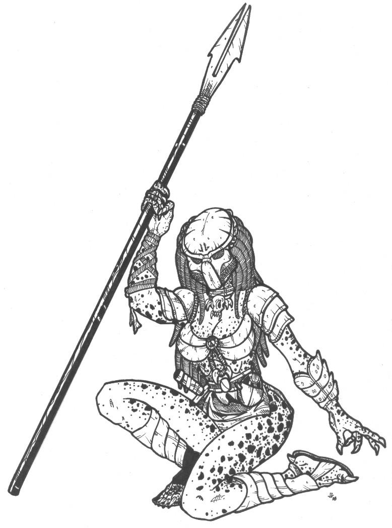 Female Predator by DementedInk