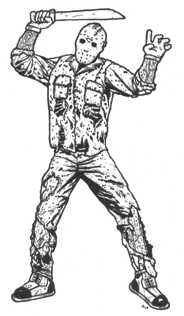 To Print For Jason Mask Pumpkin Stencil: Friday The 13th: The Game