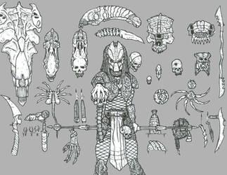 Predator Trophies by DementedInk