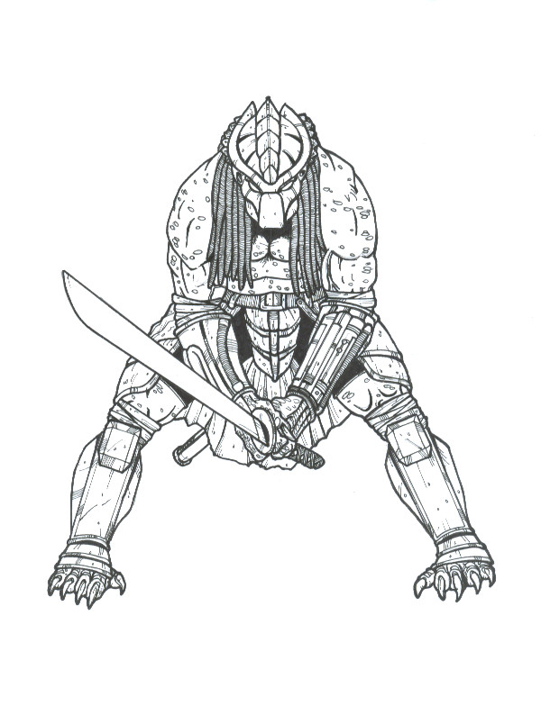 Predaguy SAVAGE SWORD by DementedInk