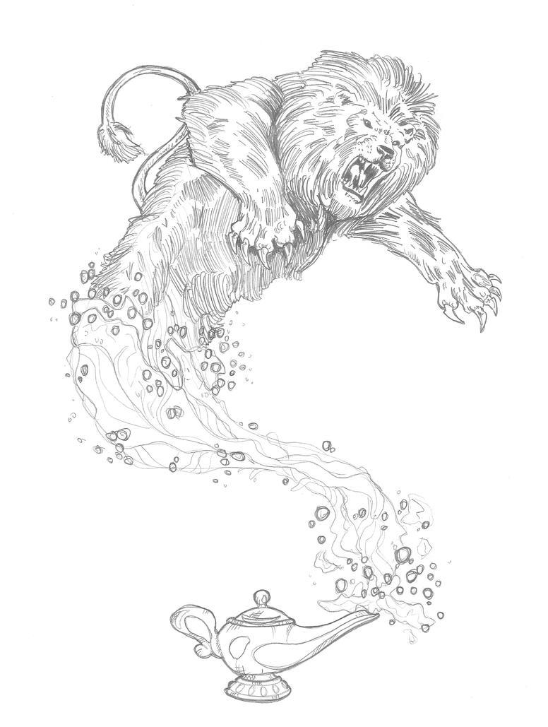Magic Lamp by DementedInk on DeviantArt for Magic Lamp Drawing  239wja