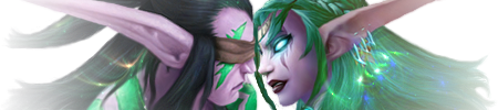 Illidan and Tyrande - The Kiss by Shyama88