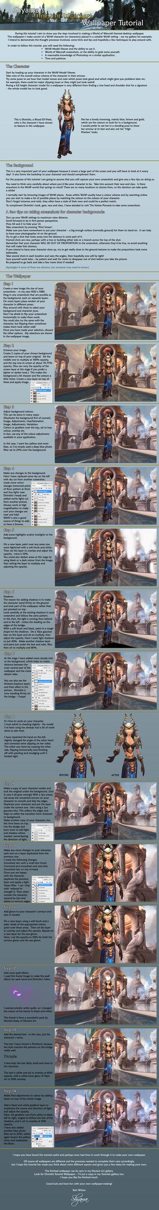 Shyama's World of Warcraft Wallpaper Tutorial by Shyama88