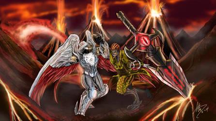Jeyga versus Grieve T'Karius by StrongBob