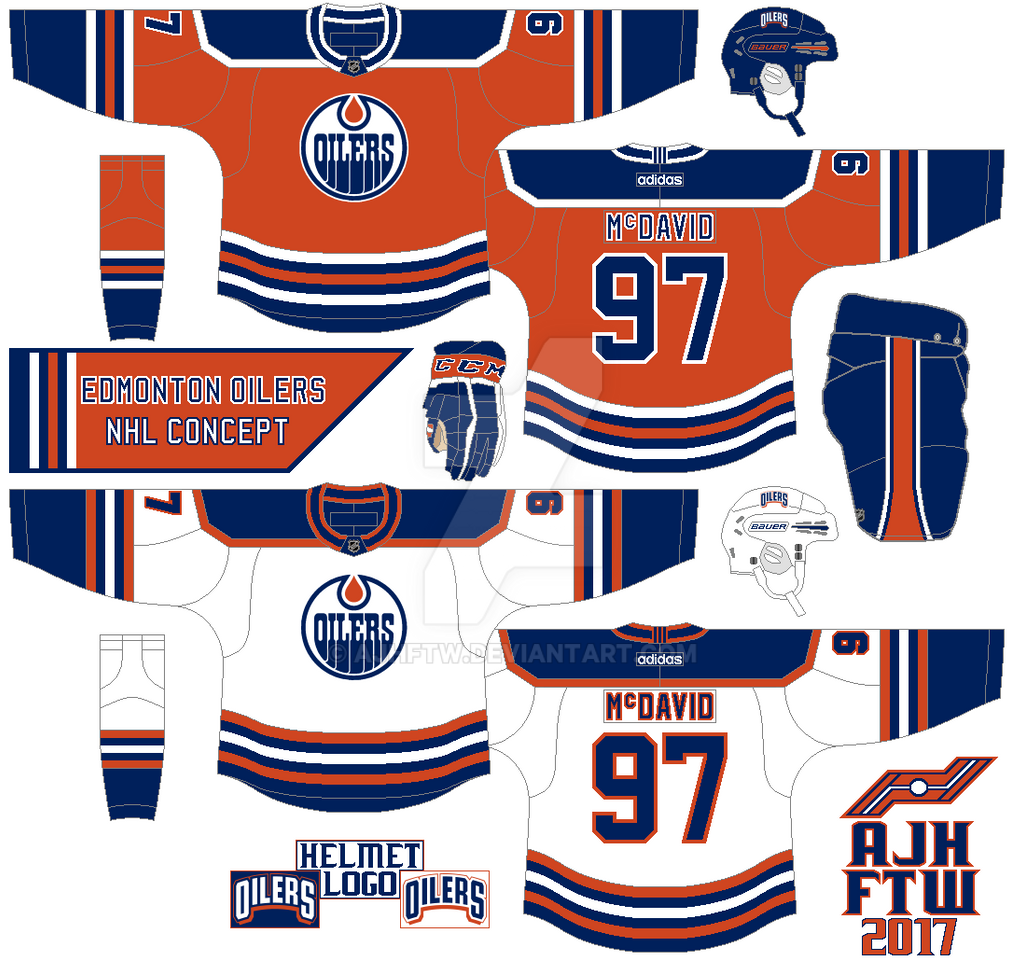 innovative design a371a c11ac AJH Hockey Jersey Art: NHL Adidas concept: Edmonton Oilers