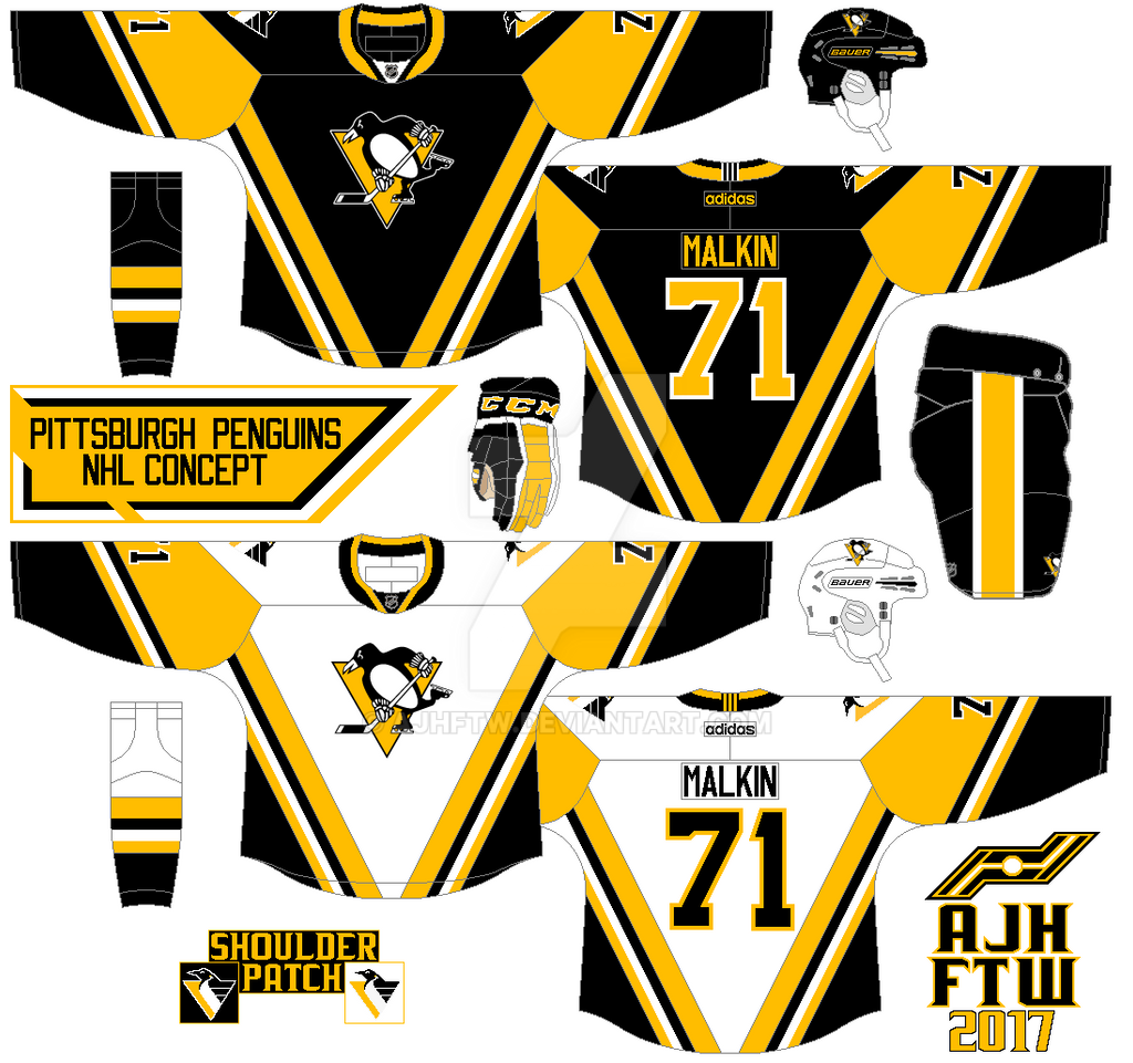 wholesale dealer ad9ef 0ac01 AJH Hockey Jersey Art: NHL Adidas concept: Pittsburgh Penguins