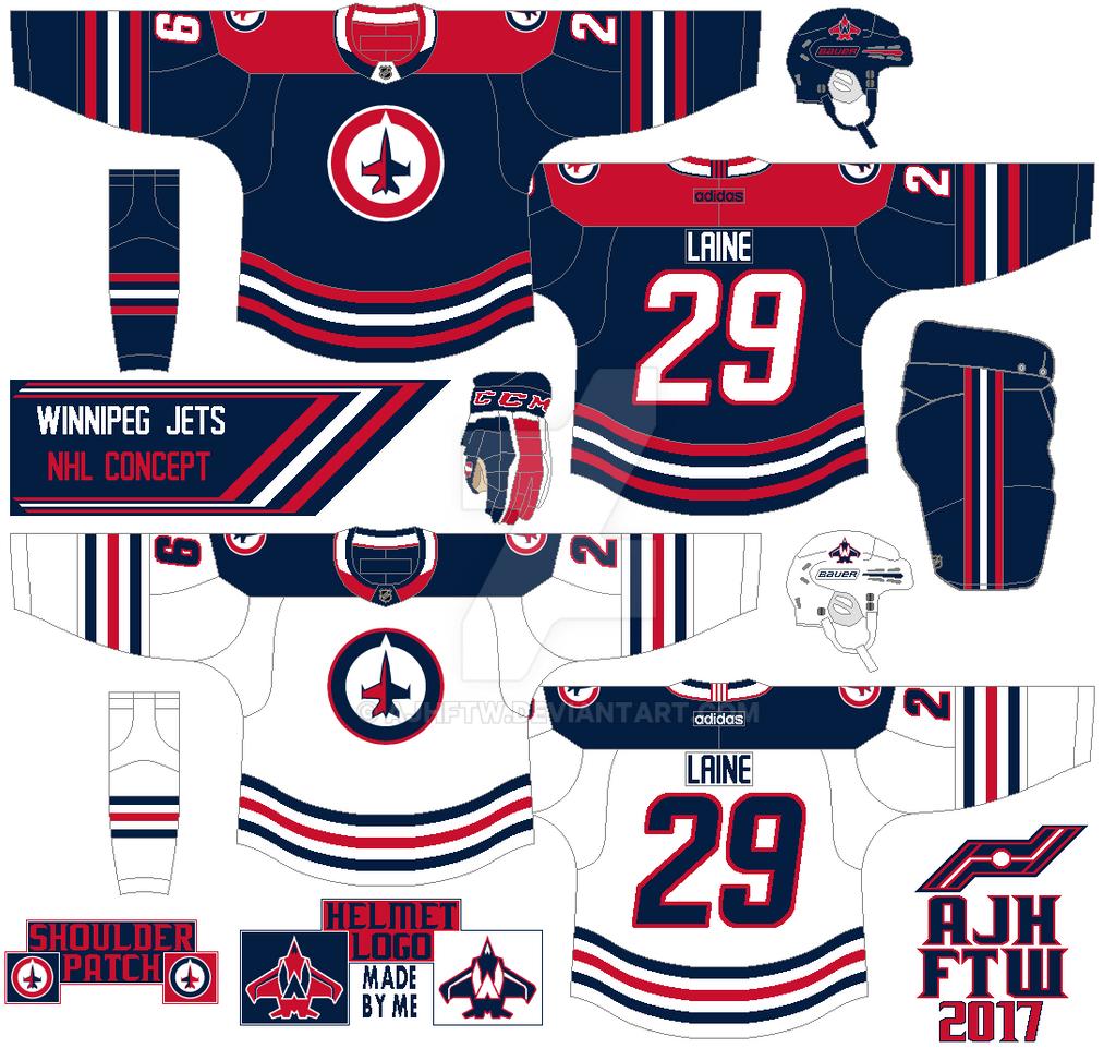 54630f7db AJH Hockey Jersey Art  NHL Adidas concept  Winnipeg Jets