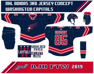NHL Adidas 3rd jersey concept: Washington Capitals by AJHFTW