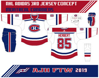NHL Adidas 3rd jersey concept: Montreal Canadiens by AJHFTW