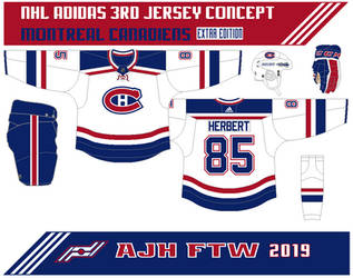 NHL 3rd jersey concept: Montreal Canadiens extra by AJHFTW