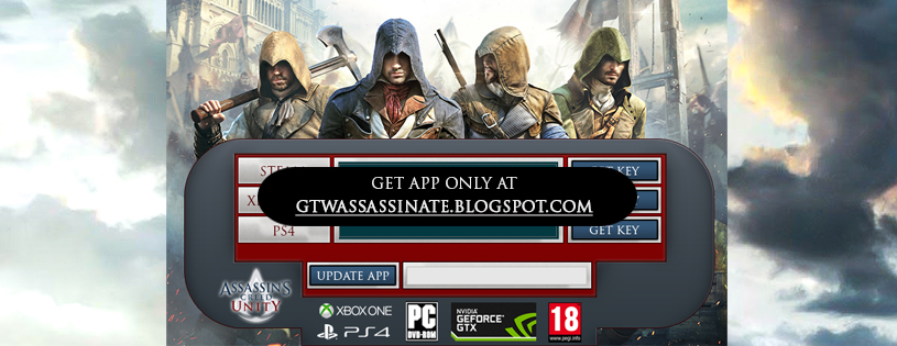 Assassins Creed Unity Free Steam Keys and Xbox One by