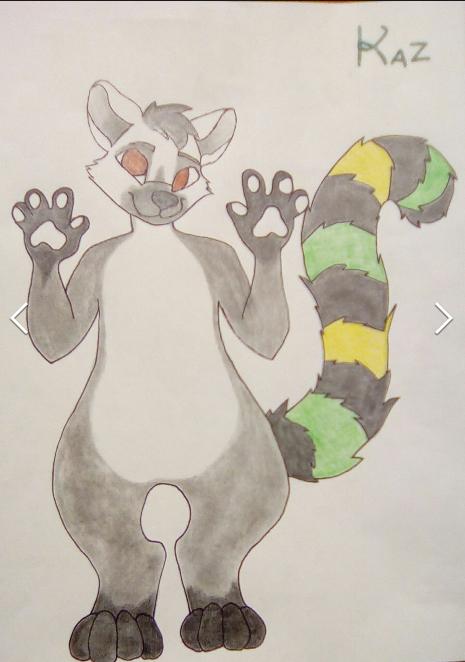 Kaz the lemur by Angel-Wolf-Hagane