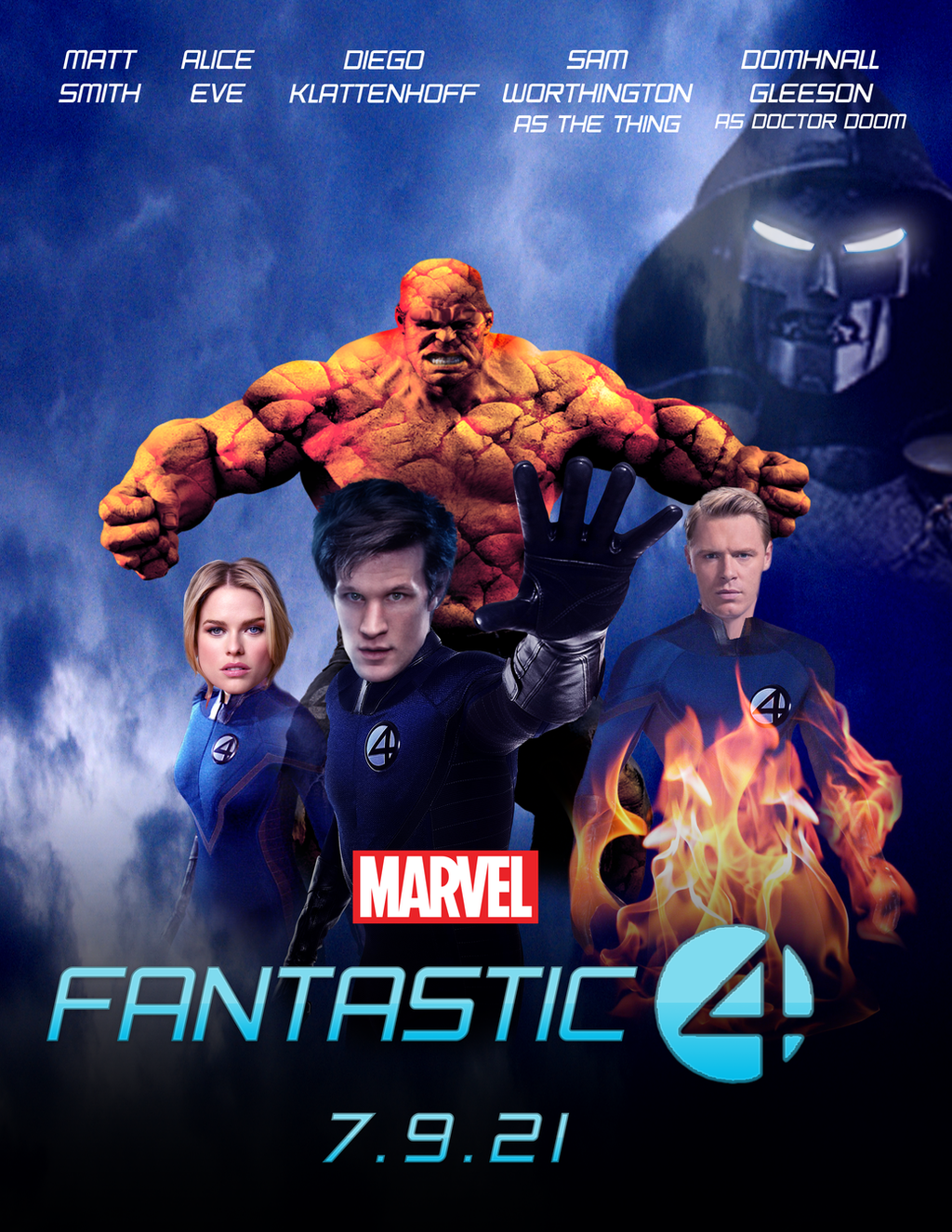 fantastic four mcu reboot poster by nunkinz1000 on deviantart