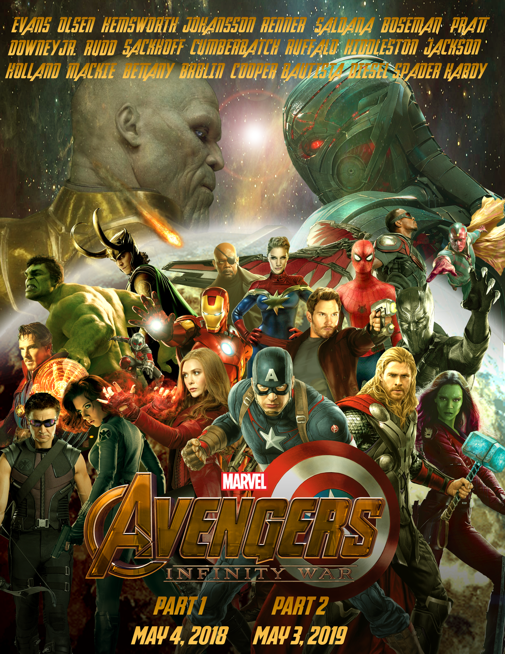 avengers: infinity war poster by nunkinz1000 on deviantart