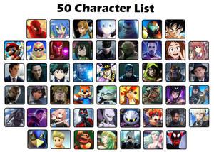 Favorite 50 Characters Meme