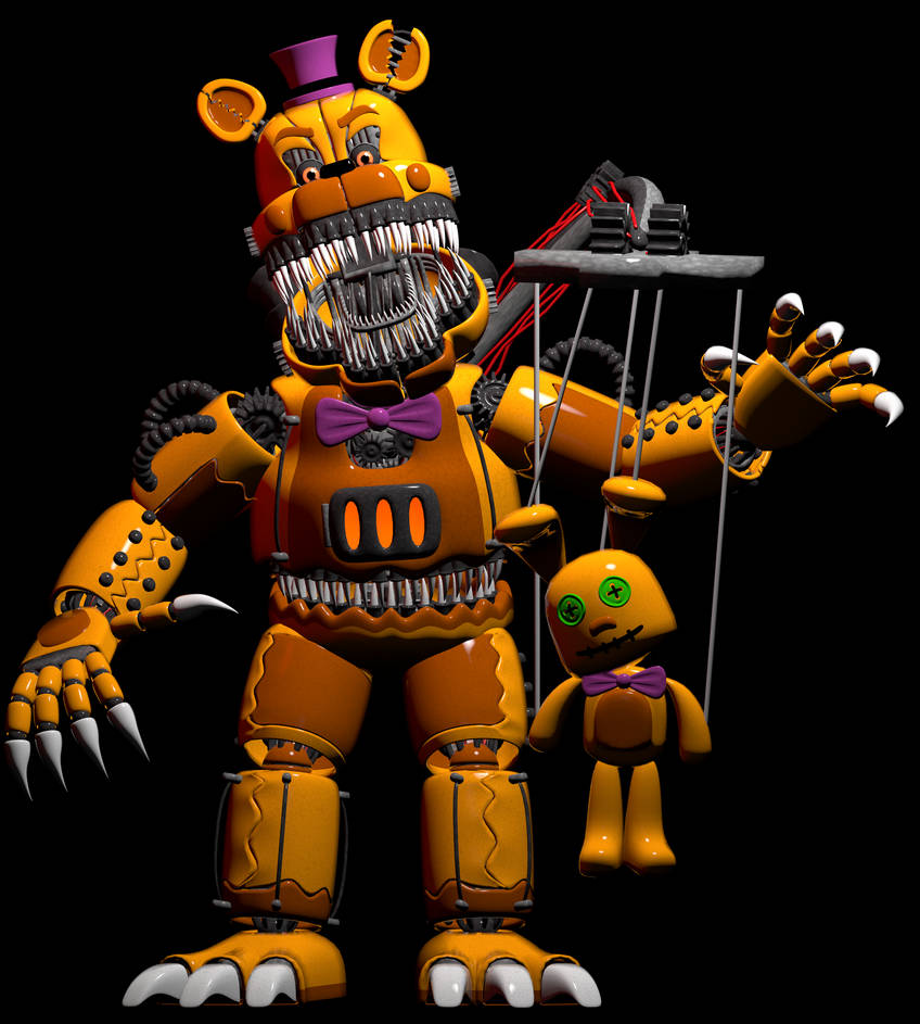Full Body Of Stylized Fredbear With A Big Name By