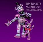 Stylized Prototime Freddy and Bonnet (WIP3)