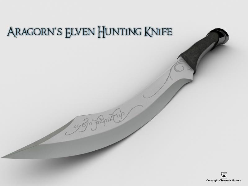 Aragorns Elven Hunting Knife By Kreativemente On DeviantArt