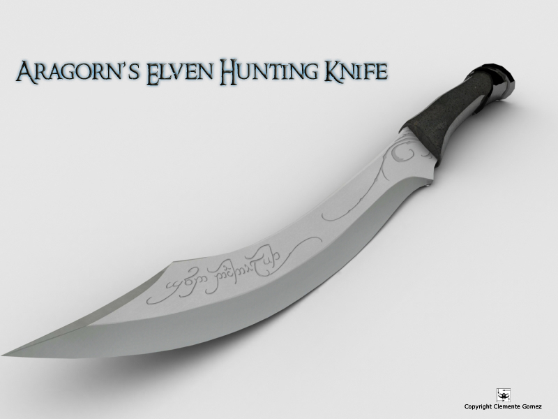 Aragorns Elven Hunting Knife By Kreativemente On Deviantart