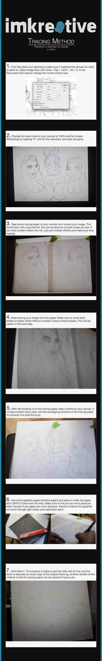 How To Get A Drawing on Canvas : Tracing Method by kreativemente