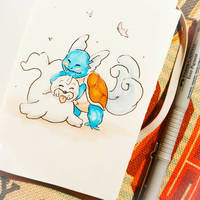 Seel and Wartortle by semiko