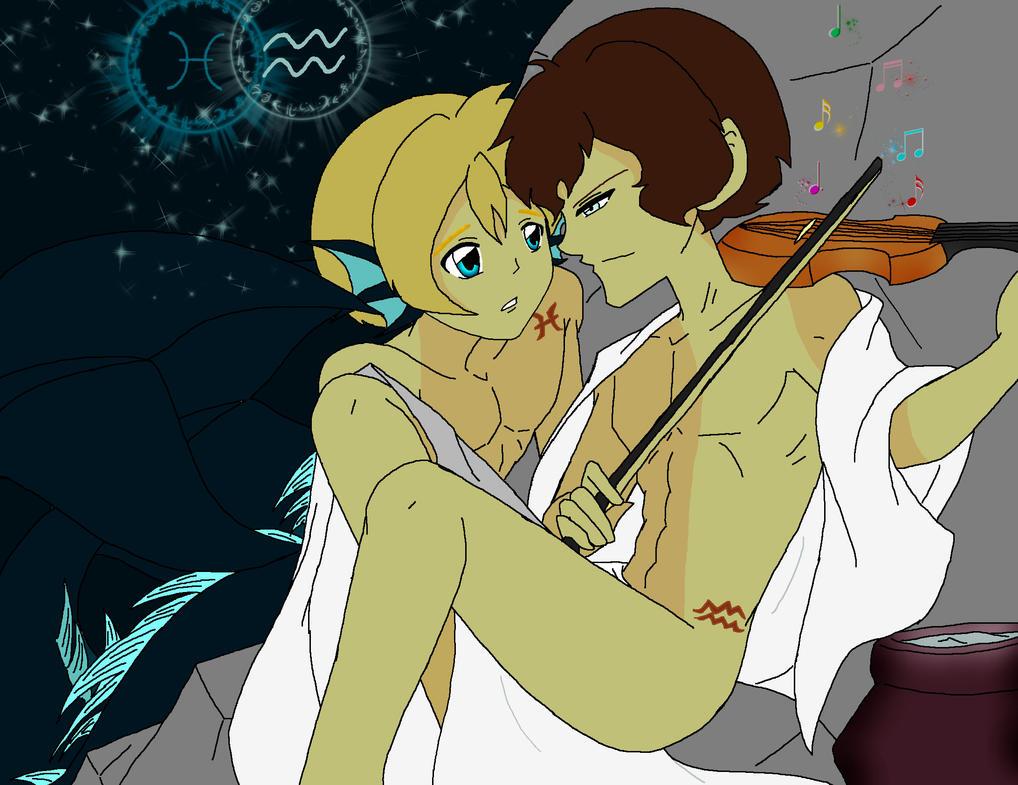 Aquarius And Pisces Sherlock John Colored By Atsyrc