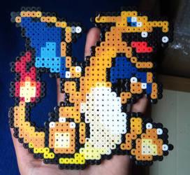 Charizard Pixel Bead Art
