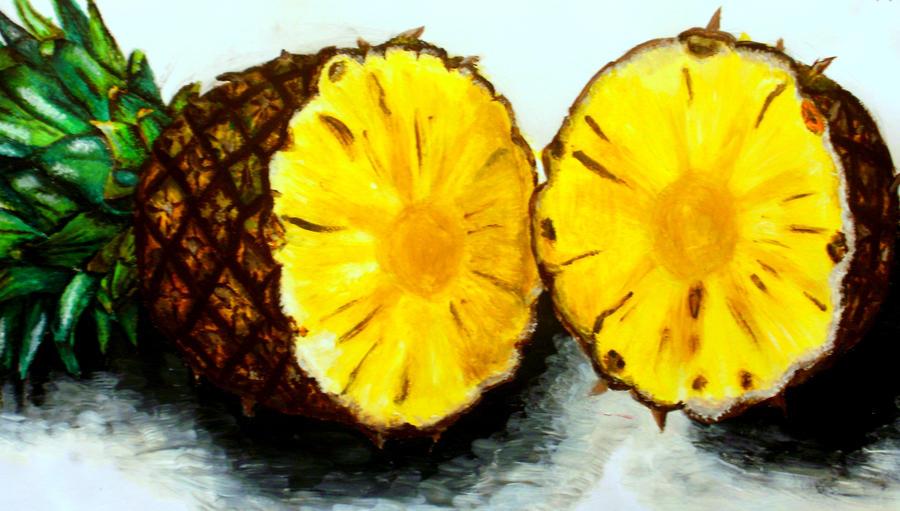 Acrylic pineapple by bunnyrabb567