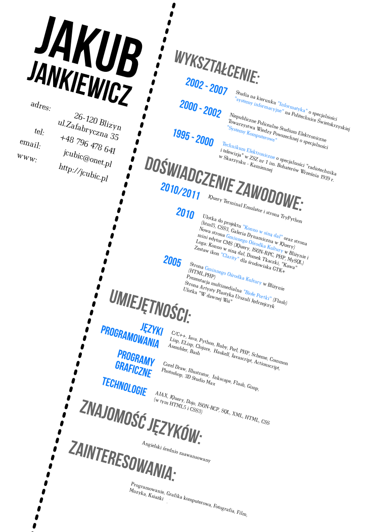 My Cv Design By Jcubic On Deviantart