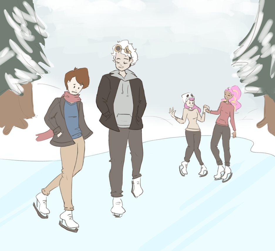 Ice Skating by Tangelo12