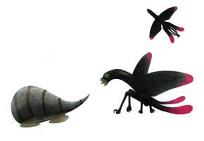 Kite bird vs helmbug by Preradkor