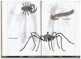Acarinoscorpionid and Gigantotardigrad by Preradkor