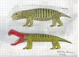 Herbivorous land crocodile by Preradkor