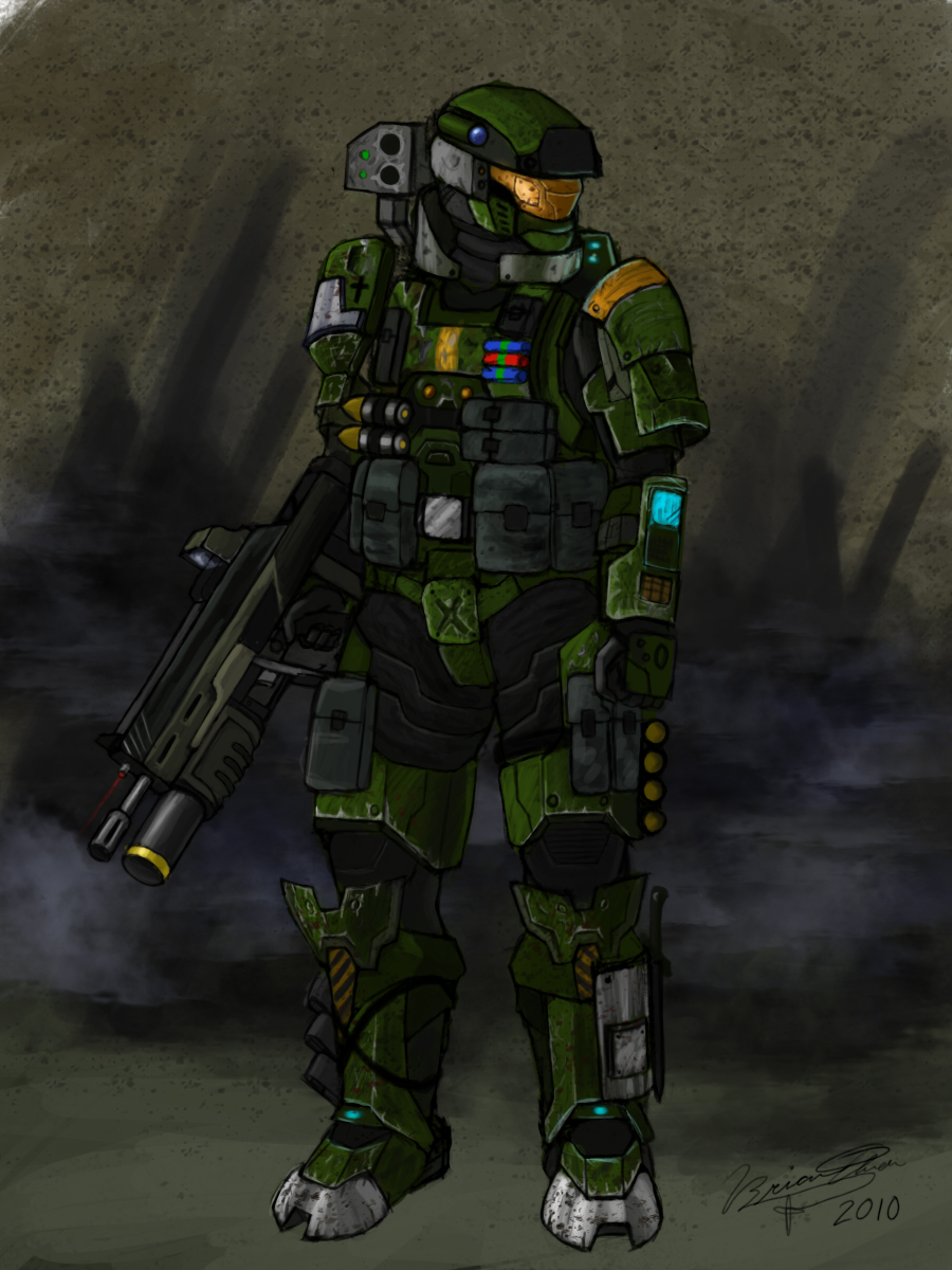 Spartan-III Heavy Arms Variant by PandaProduction