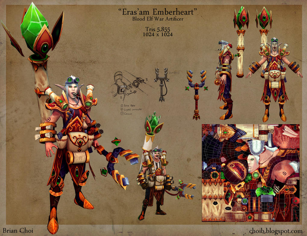 Eras'am Emberheart, Blood Elf War Artificer by PandaProduction